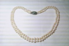Necklace with 2 turns of culture pearls